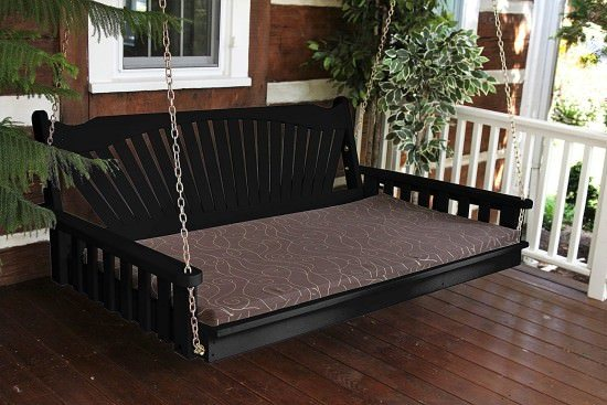 Hanging Fanback Porch Swing Bed