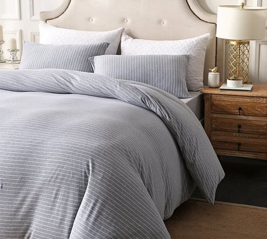 PURE ERA Striped Duvet Cover Set
